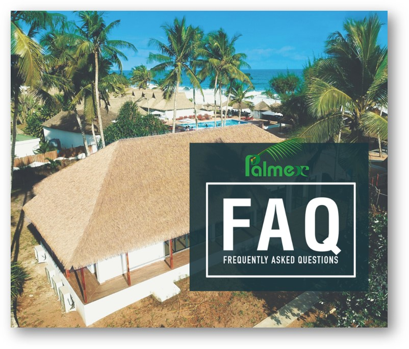 Frequently-asked questionsregarding Palmex synthetic thatch roofing